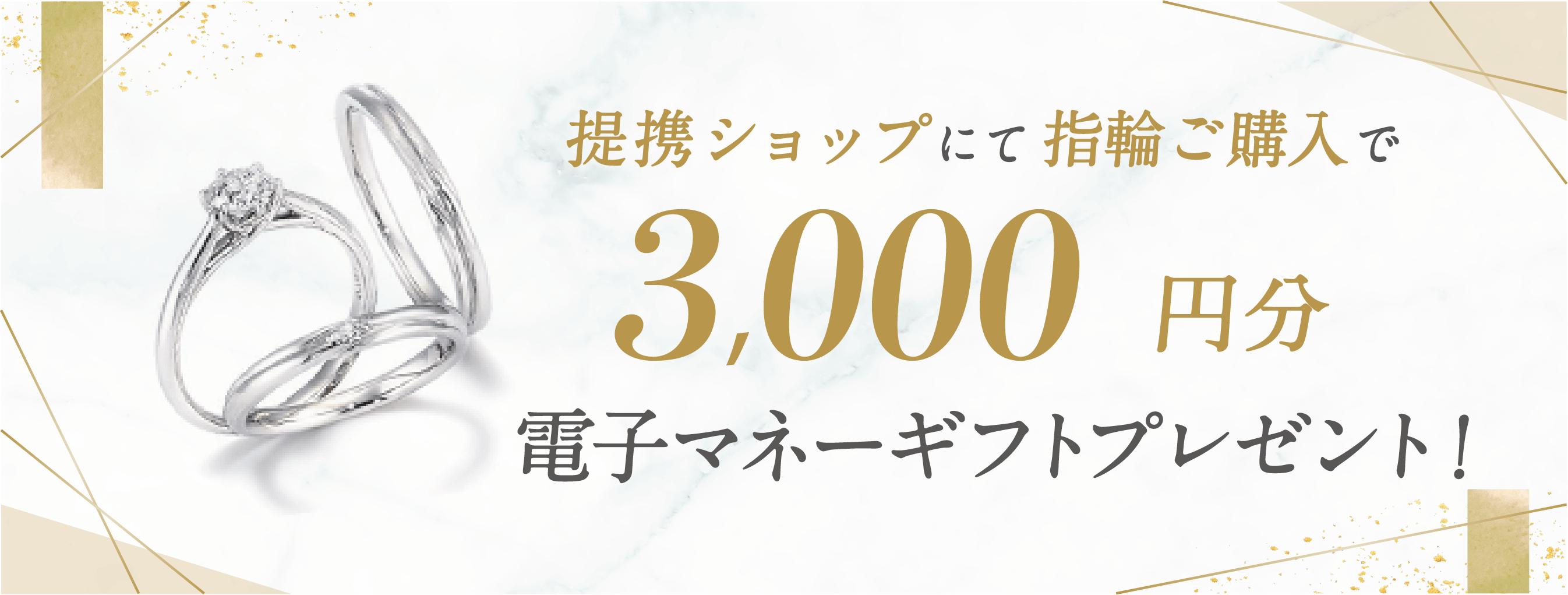 ハナユメ【3,000円分電子マネーギフトプレゼント】